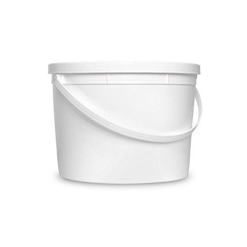 1 Gallon White Organizational Bucket & Lid - Multi-Purpose Utility Pail - Food Grade - Pack of 6