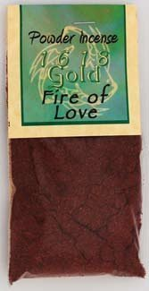 - Fire of Love Powder Incense 1618 gold