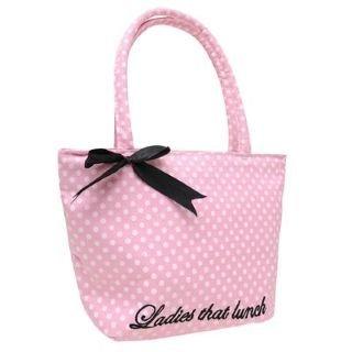 Golddigga Lunch Bag Ladies Pink/White Spot -: Amazon co uk