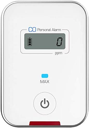 Travel CO DETECTOR by FORENSICS Carbon Monoxide Low-Level 9ppm Alarm Super Small Size Stylish iPhone White Color Easy One-button operation
