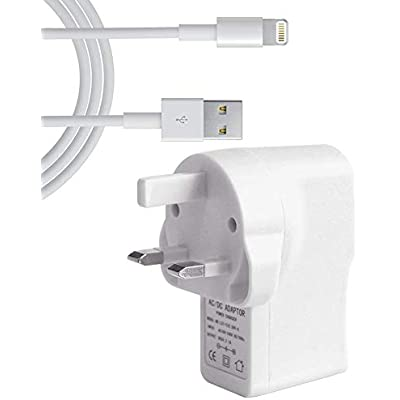iPad Air Fast Charger 2 1 amp Light Weight USB Mains Charger Includes USB 2 0 cable for the iPad Air and your other devices with the lightning connector  certified  100 Pack