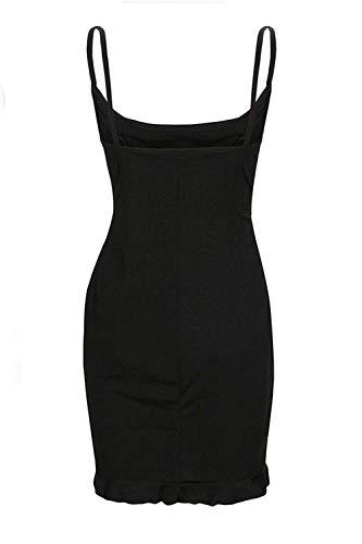 Noir Nu Pour Robe D'été À Large Soirée Coloré Taille Dos Robes Mini shBrtQdCox