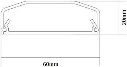 Kabelkanal Kabelabdeckung Kabelschacht Kabelführung Kabelleiste 25cm Schwarz