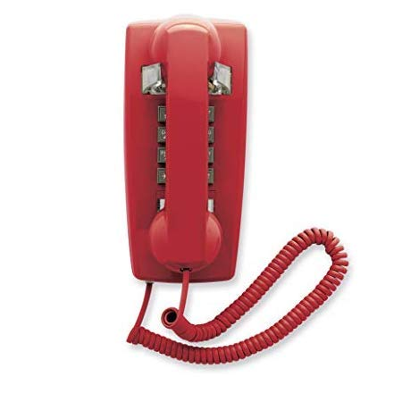 - Industrial Wall Phone with Dialpad & Wallplate - RED by HQTelecom