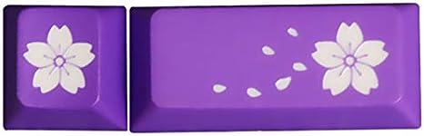 SSSLG Mechanical Keyboard keycap ESC+Enter Key Two keycaps deep dip Dyeing Process,Pink PBT Material Cherry Blossom keycap