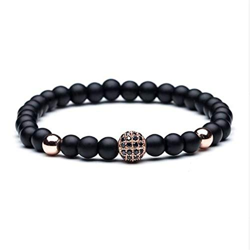 Wooden Bracelets Burning (2019 Bead Men'S Bracelet New Natural Stone & Wood Head Bead Bracelet for Men & Women Buddha Skull Bell Shambhala Elastic Bracelets,B 020279 B)