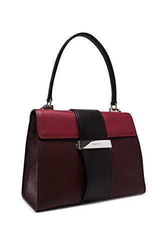 à Prada femme sac en main bordeaux cuir CqP5w47qS