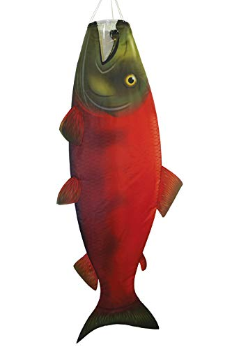 In the Breeze 5118 Sockeye Salmon Fish Windsock-Hanging Outdoor Decoration, 48 ()