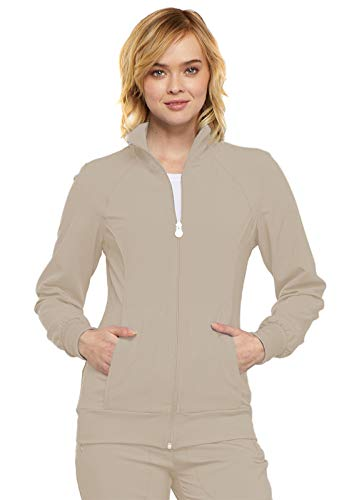 (Cherokee Infinity Women's 2391A Zip Front Warm-Up Jacket (Khaki, Large))