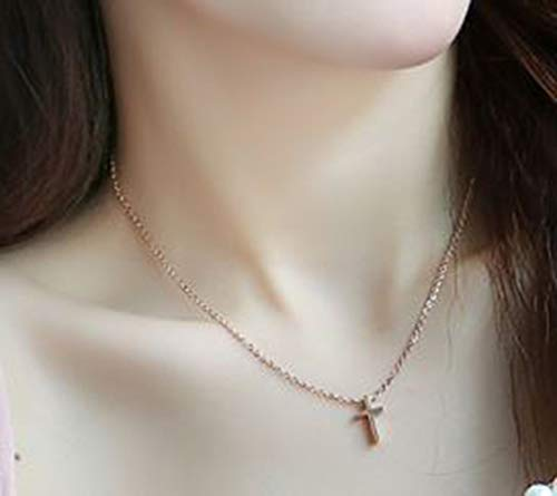 9541bf9590d11 Amazon.com  Keira Jewelry Rose Gold Tiny Cross Necklace Dainty Cross ...