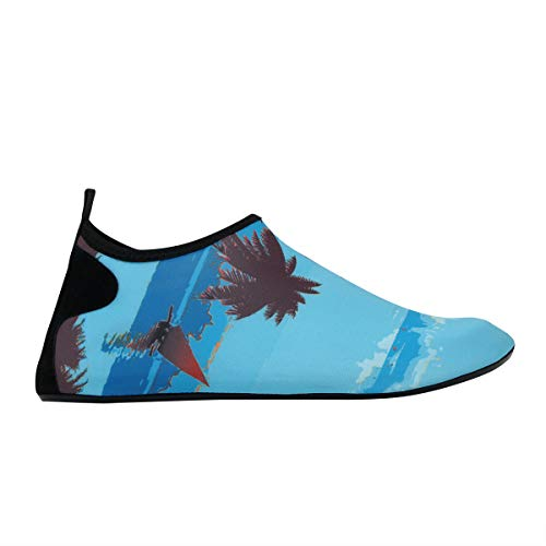 Ocean Socks Exercise Swim Vaincre Dry Aqua Mens Tree Barefoot Beach for Coconut Shoes Water Quick Surf Yoga Womens and wxZzqwWRa