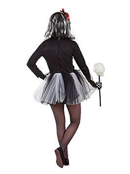 DISBACANAL Disfraz de Esqueleto tutú niña - Único, 8 años ...