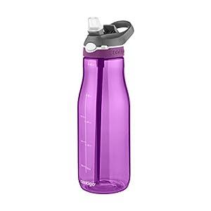 Contigo Autospout Straw Ashland Water Bottle, 40 oz, Radiant Orchid