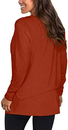 NSQTBA Womens Long Sleeve Shirts for Leggings Tops Loose Fitting Fall Clothes
