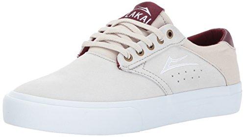 Lakai Mens Skateboard Shoe - Lakai Porter Skate Shoe, White Suede, 8.5 M US