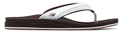 素敵な退屈な成り立つ(ニューバランス) New Balance 靴?シューズ レディースサンダル Renew Thong Brown with White ブラウン ホワイト US 9 (26cm)