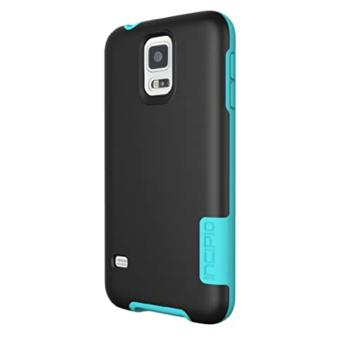 Incipio OVRMLD Case for Samsung Galaxy S5 - Retail Packaging - Black/Turquoise (Incipio Phone Case For Galaxy S5)