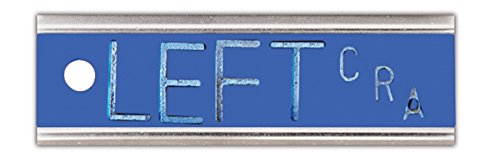 X-Ray Markers, Elite Style - 2-3 Initials, LEFT ONLY, LEFT 1/2'', Horizontal