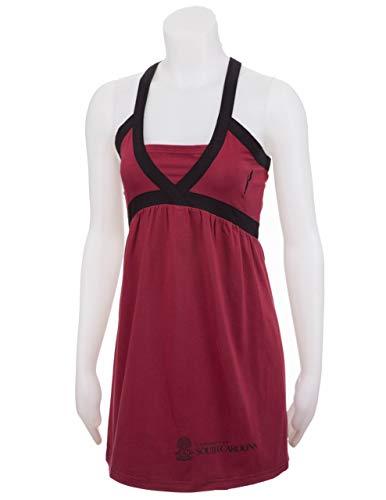 Flying Colors Womens University of South Carolina Juniors Criss Cross Dress,Garnet/Black,X-Small