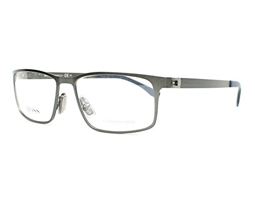 Boss Hugo Boss Eyeglasses - Eyeglasses Boss Black Boss 841 0R80 Semi Matte Dark Ruthenium