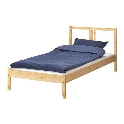 Ikea Fjellse Solid Untreated Pine Bed 90 X 200 Cm Bed