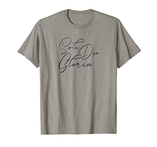 Soli Deo Gloria Christian Reformed Calvinist T-shirt (Apparel)