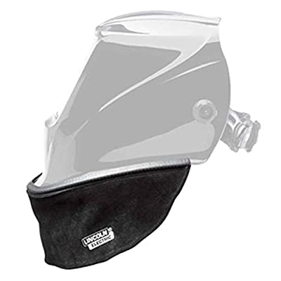 Lincoln Electric Split Leather Helmet Bib with Press Fit Seal | Compatible with Most Welding Helmets | KP3729-1: Industrial & Scientific