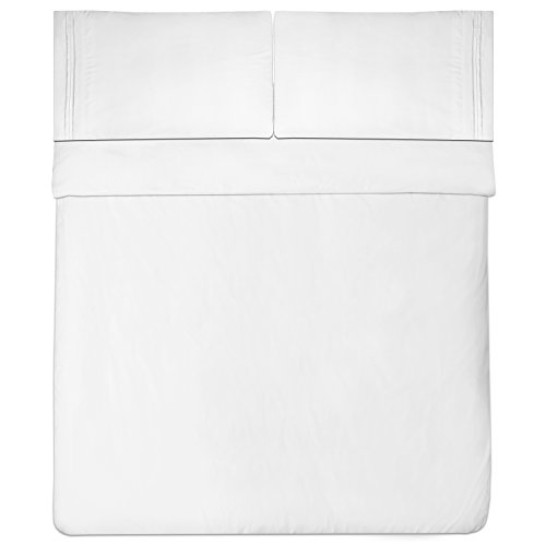 Sweet Home Collection 1800 Thread Count Egyptian Quality Brushed Microfiber 4 Piece Deep Pocket Bed Sheet Set, Queen, White by Sweet Home Collection (Image #4)