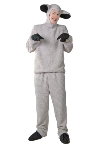 [Fun Costumes unisex-adult Adult Sheep Costume Standard] (Male Sheep Costume)