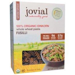 Jovial, Whole Wheat Pasta, Fusilli, 100% Organic Einkorn,...