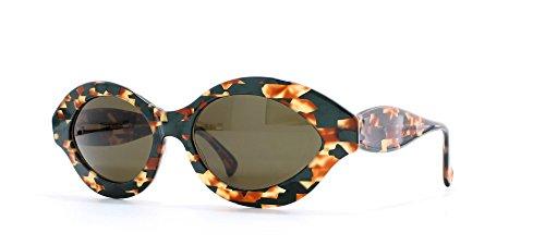 Alain Mikli 2111 1043 Green and Orange Authentic Women Vintage - Alain Mikli Sunglasses