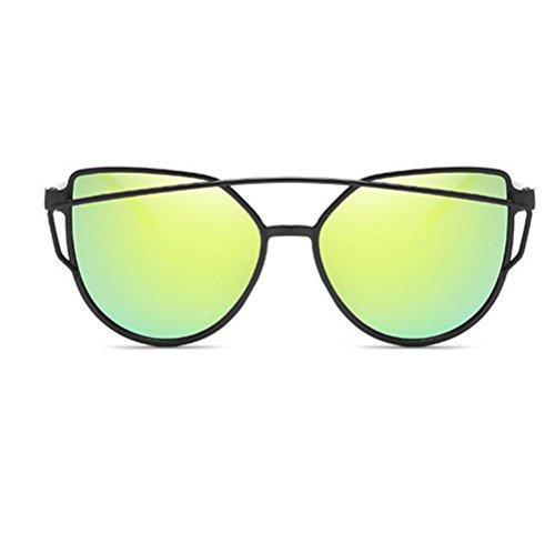 Moda Europa Y G Nueva Gafas Sol Sol Metal Grano ASD De Gafas Unisex Trend Hipster HJJ De Color H Madera Caja Film Personalidad Unidos Estados 6qvPWA