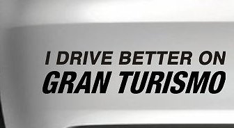 I Drive Better On Gran Turismo Car Vinyl Decal Funny Drift Jdm 4x4 Wall Art, Black, 8 Inch, Die Cut Vinyl Decal For Windows, Cars, Trucks, Tool Box, Laptops, Macbook- Virtually Any Hard