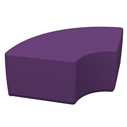 ECR4Kids Softzone Quarter Circle Ottoman - Furniture for Kids, Junior 12
