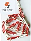 """Tool Zone """"S"""" Hook Plastic / UPVC Chain- Red & White- 10 mtrs"""