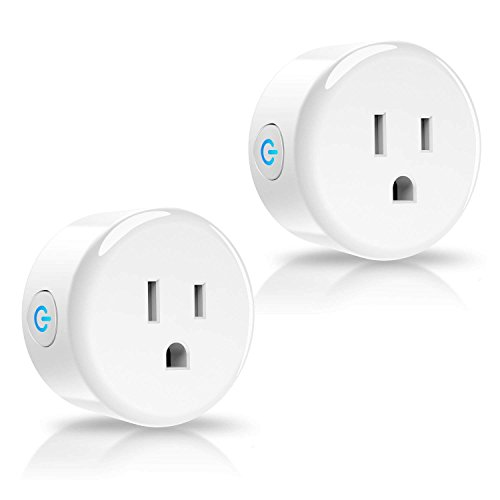 Anbes Wi-Fi Smart Plug Mini Outlet Socket Compatible with Alexa Echo, Google Home and Ifttt, Etl and Fcc Listed, No Hub Required (2 Pack)