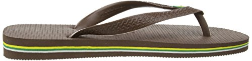Havaianas Unisex Brasil Marrón Brown 0727 Dark Adulto para Chanclas rtrq1UwB