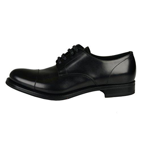 Prada Men's Black Leather Oxfords Dress Shoes US 7 IT 6 EU 40;