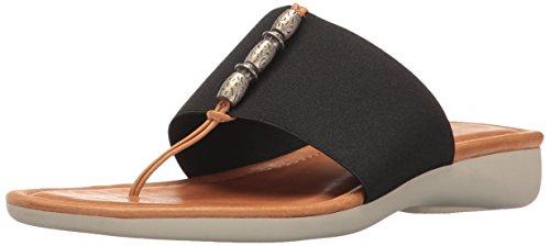 The FLEXX Women's Rain Maker Flip Flop, Black/Cognac Elastic/Vaccheta, 8.5 M US by The FLEXX