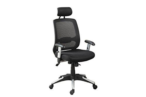 Poundex Mesh Back Office Chair, Black
