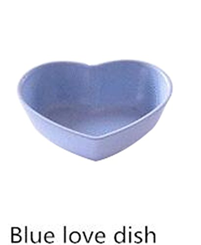 Price comparison product image JIANGTAOLANG 1Pcs Kitchen Food Sauce Dish Bowl Straw Sauce Small Plate Vinegar Flavor Dish C492 blue heart