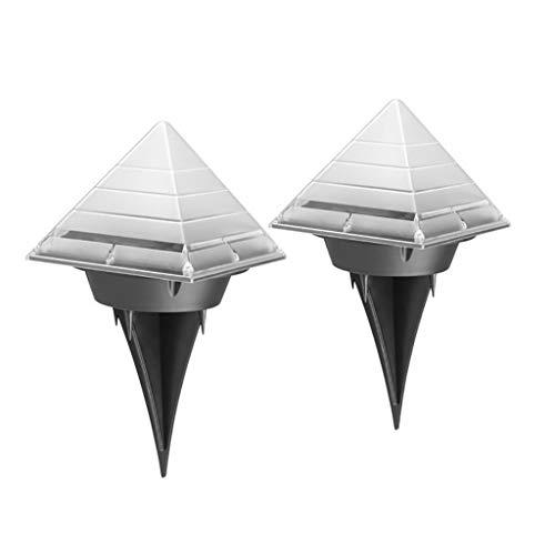 OrchidAmor Solar Pyramid Ground Light LED Buried Outdoor Garden Lawn Path Lamp Patio Decor ()