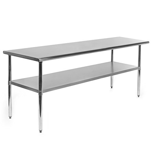 (GRIDMANN NSF Stainless Steel Commercial Kitchen Prep & Work Table - 72 in. x 24 in.)