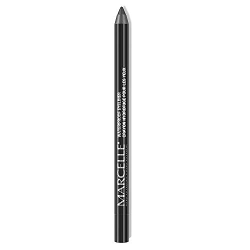 Marcelle Waterproof Eyeliner, Midnight Black, Hypoallergenic and Fragrance-Free, 0.04 oz