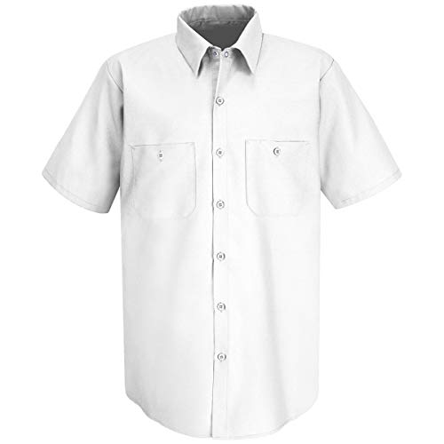 Red Kap 2X White 4.25 Ounce Polyester/Cotton Shirt With Button Closure by BULWARKRED KAP (Image #1)