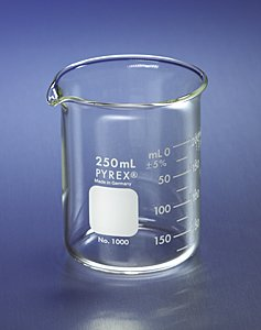 PYREX Griffin Low Form 250mL Beaker Graduated - 250 Glass Ml