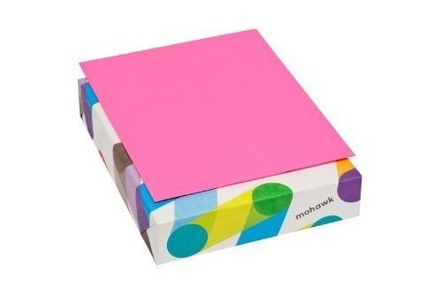 Mohawk BriteHue Ultra Fuchsia 20lb/75 gsm Smooth Text Paper, 8.5 x 11 Inch, 500 Sheets/Ream - Sold as 1 Ream (185201)