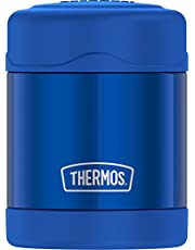Thermos 10-Ounce Stainless Steel Vacuum-Insulated Food Jar (Blue), One Size