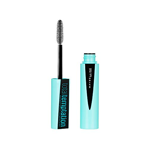 Maybelline New York Makeup Total Temptation Waterproof Mascara, Waterproof Mascara, Very Black, 0.3 fl oz (Best Waterproof Mascara Drugstore 2019)