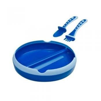 Gerber Graduates My 1st Feeding Set Spoon, Fork and Plate 9m+ Colors Vary, Baby & Kids Zone